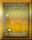 American Assoc. of Webmasters - Gold Award